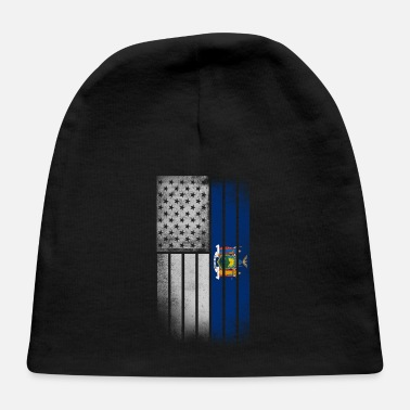 New York State Flag USA Vintage New York State Flag - Baby Cap