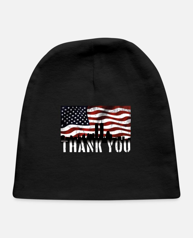 New Baby Hats - Thank you 911 memorial day proud of usa t-shirts - Baby Cap black