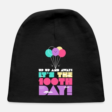 Cute Colorful Up and Away Balloon 100 Days of Scho - Baby Cap