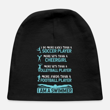 I Am A Swimmer I Am A Swimmer Athlete - Baby Cap