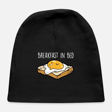 Fried Egg Breakfast in bed - Fried egg toast - Baby Cap