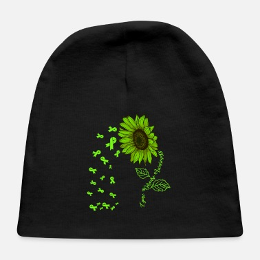 Lyme Disease Awareness Lyme disease Awareness Green Ribbon Sunflower - Baby Cap