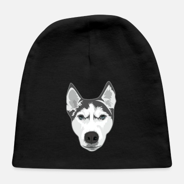 Huskey Funny Dogs Huskey Dog Graphic - Baby Cap