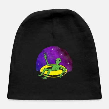 Ufo Lazy UFO Alien Galaxy relaxing Spaceship - Baby Cap