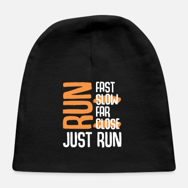 Marathon Race run saying - Baby Cap
