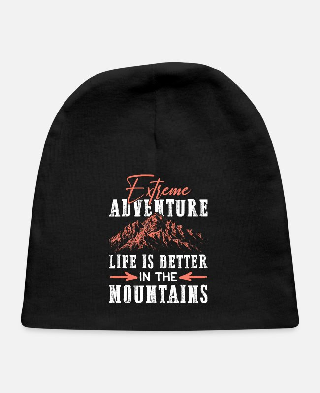 Mountains Baby Hats - Adventure mountains mountains - Baby Cap black
