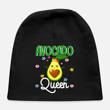 Bursdag Funny Floral Women Avocado Vegan Lover Gifts - Baby Cap