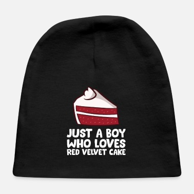 Eggs Red Velvet Cake Boy Just a Boy Who Loves Red - Baby Cap