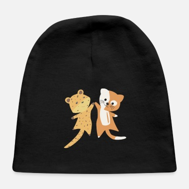 Cat Of Prey Cat Leopard Safari Puss Cute Animals For Kids - Baby Cap