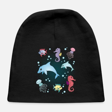 Marine Animal Marine Life Marine Animals Aquarium Aquarist Gift - Baby Cap