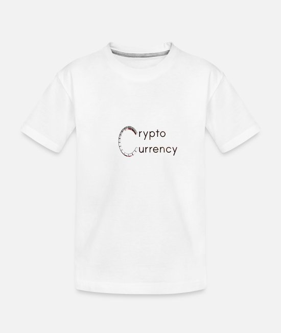 Forex Baby T-Shirts - Cryptocurrency Double - Toddler Organic T-Shirt white