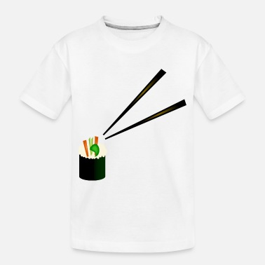 Chopsticks Cute Sushi Roll With Fancy Chopsticks--DIGITAL - Toddler Organic T-Shirt