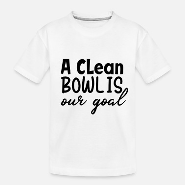 Strike a clean bowl is our goal baseball - Toddler Organic T-Shirt