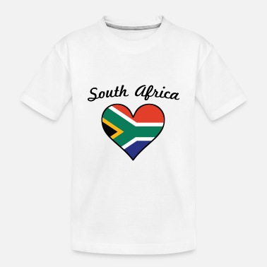 South South Africa Flag Heart - Toddler Organic T-Shirt