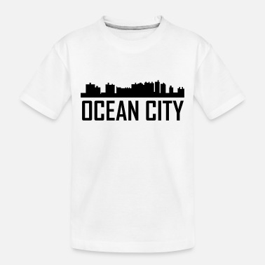 City Ocean City Maryland City Skyline - Toddler Organic T-Shirt