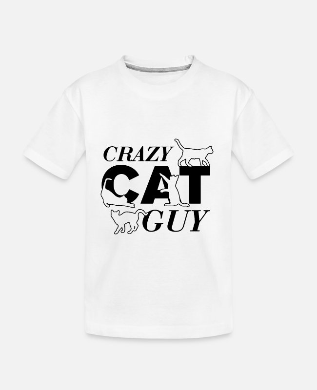 Cats Baby T-Shirts - Crazy Cat Guy - Toddler Organic T-Shirt white