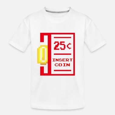 insert coin retro - Toddler Organic T-Shirt