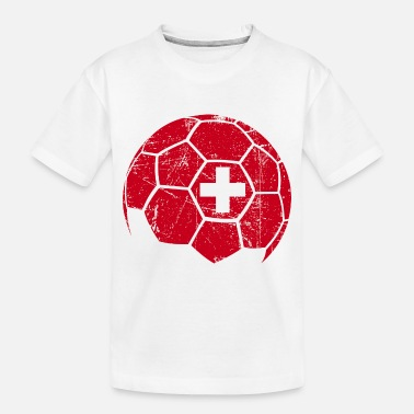 Ball Switzerland Soccer Football Ball - Toddler Organic T-Shirt