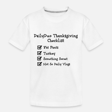 Checklist Thanksgiving Checklist - Toddler Organic T-Shirt
