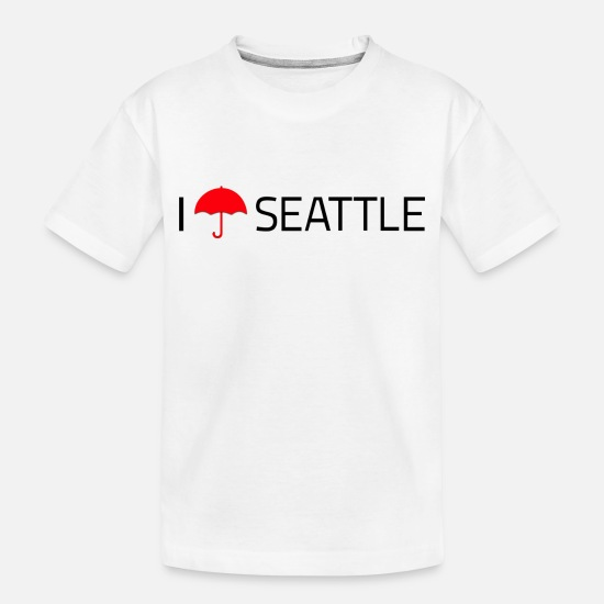 Seattle Baby Clothing - Seattle Umbrella - Toddler Organic T-Shirt white