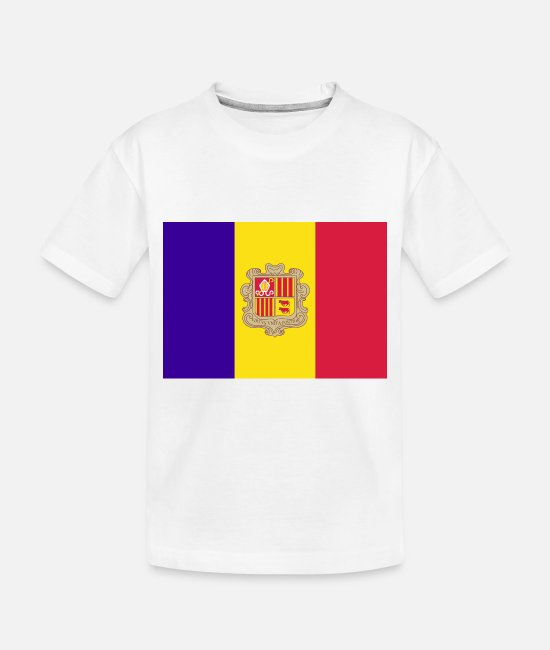 National Baby T-Shirts - Andorra country flag love my land patriot - Toddler Organic T-Shirt white