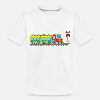 Railway toy railway - Toddler Organic T-Shirt