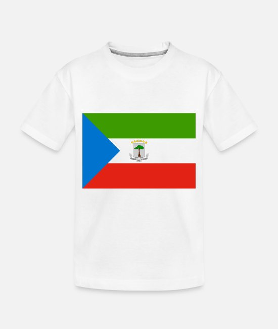 National Baby T-Shirts - Equatorial Guinea country flag love my land patrio - Toddler Organic T-Shirt white