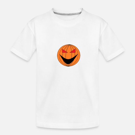 Hump Baby Clothing - helloween Pumpkin - Toddler Organic T-Shirt white