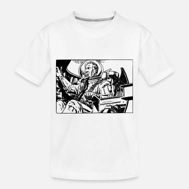 Scifi Retro Scifi Spaceman - Toddler Organic T-Shirt