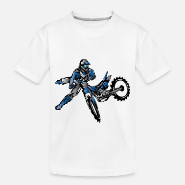 Motocross Yamaha Freestyle Dirt Bike Zip Hoodies & Jackets - Toddler Organic T-Shirt