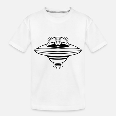 Witty ufo witty - Toddler Organic T-Shirt