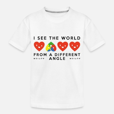 Different Autism Different Angle - Toddler Organic T-Shirt