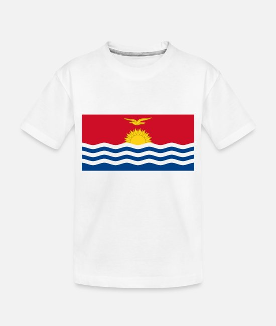National Baby T-Shirts - Kiribati country flag love my land patriot - Toddler Organic T-Shirt white