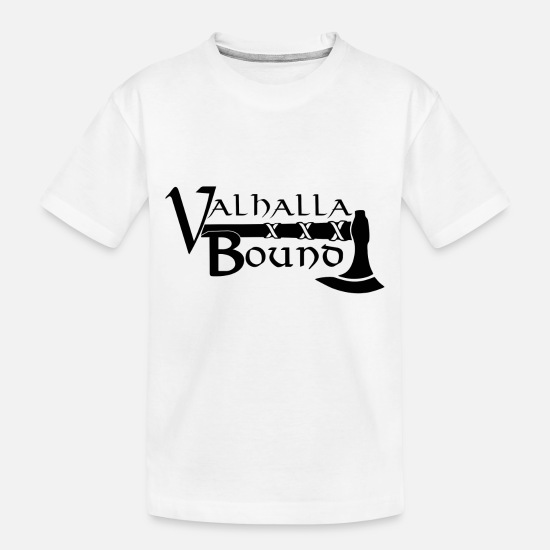 Thor Baby Clothing - VALHALLA BOUND VIKING - Toddler Organic T-Shirt white