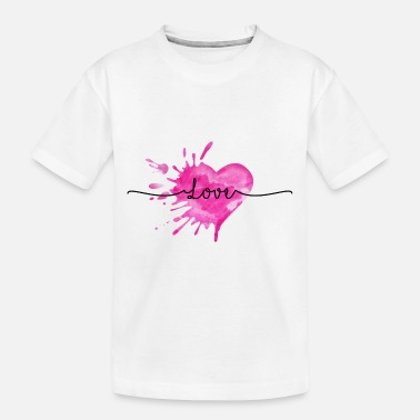 Watercolor love - Toddler Organic T-Shirt