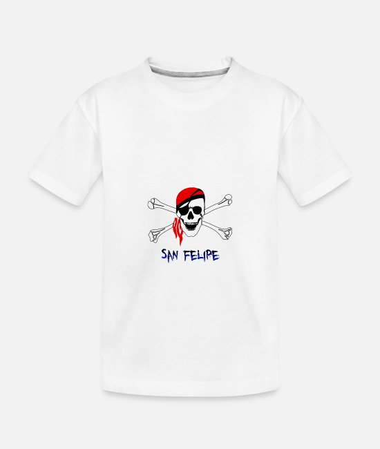 Eye Baby T-Shirts - pirate - san felipe - Toddler Organic T-Shirt white