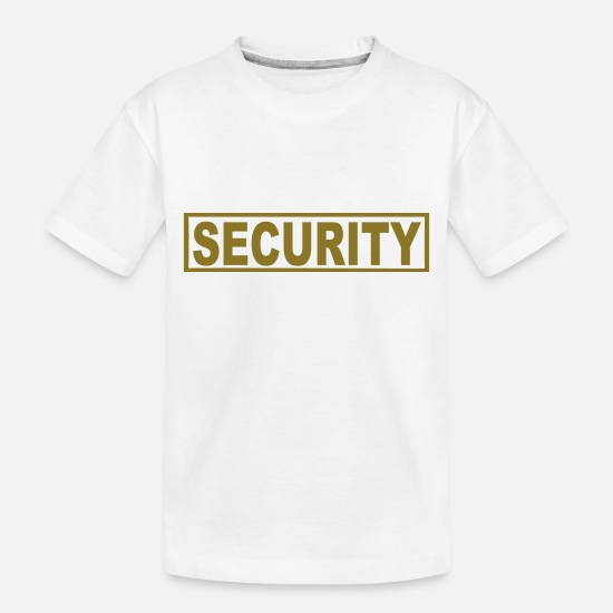 Bodyguard Baby Clothing - Security - Toddler Organic T-Shirt white