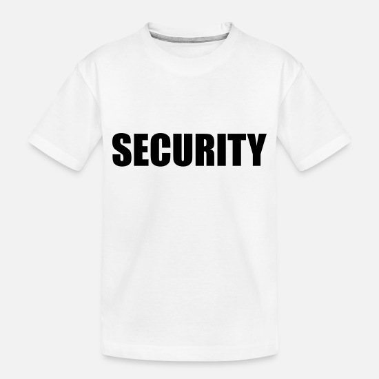 Security Baby Clothing - Security - Toddler Organic T-Shirt white