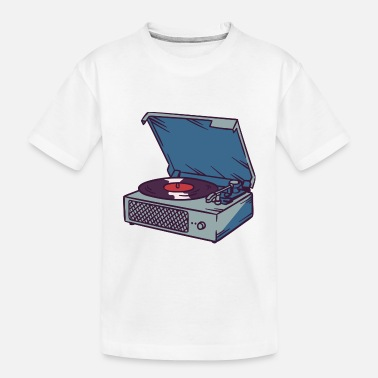 Record record player gramophone phonograph gift idea - Toddler Organic T-Shirt