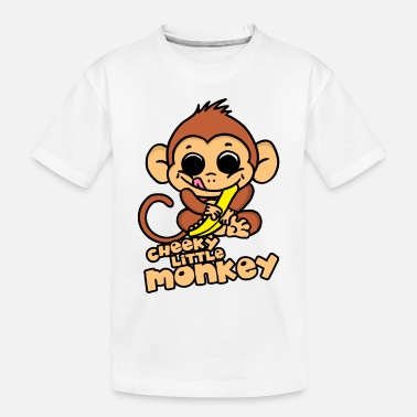 Cheeky Monkey Cheeky Little Monkey - Toddler Organic T-Shirt