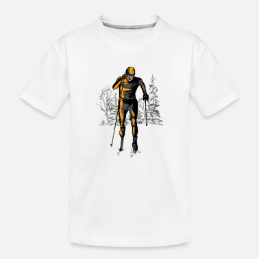 Cross skiing - Toddler Organic T-Shirt