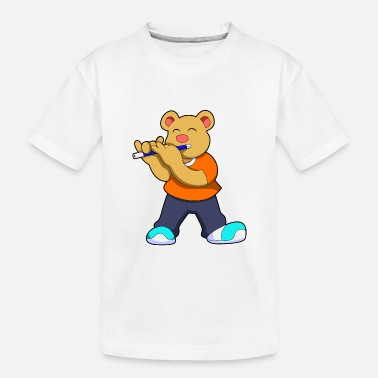Bear Bear Music Flute - Toddler Organic T-Shirt