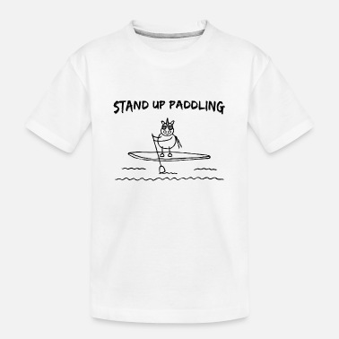 Board Stand Up Paddling Board with Unicorn - Toddler Organic T-Shirt