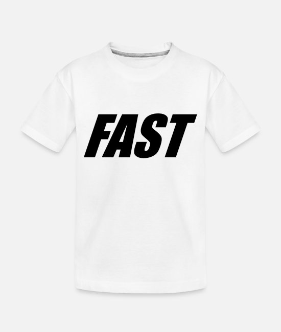 Fast Baby Clothing - FAST - Toddler Organic T-Shirt white