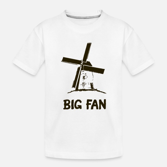 Fan Baby Clothing - Big Fan - Toddler Organic T-Shirt white