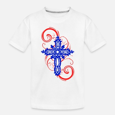 Mystic Cross MYSTIC ERA CROSS BLUE RED - Toddler Organic T-Shirt