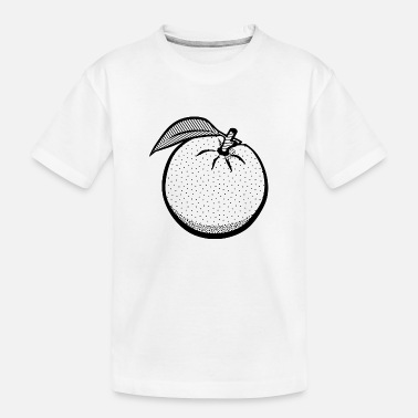 orange lineart - Toddler Organic T-Shirt