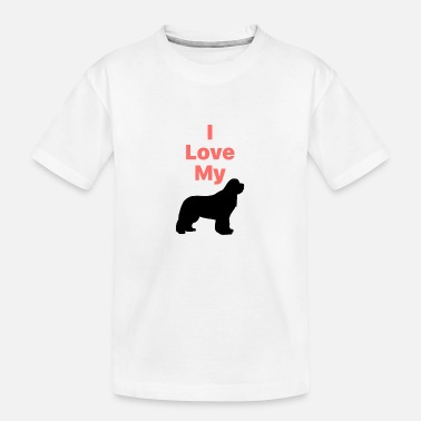 I Love My Newfie_Phone Case - Toddler Organic T-Shirt