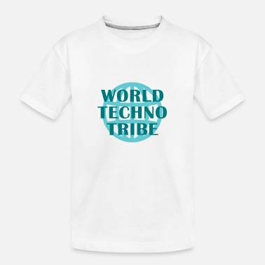 Play Music World techno tribe music gift raving concert - Toddler Organic T-Shirt