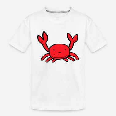 Crab Pete the funny crab - Toddler Organic T-Shirt